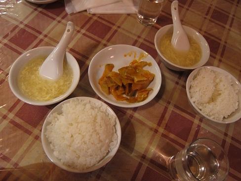 ライスとスープとザーサイ