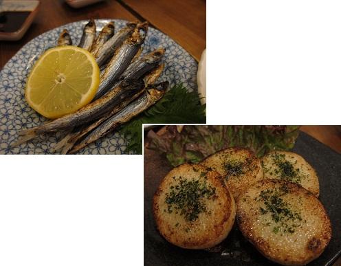 めざし&山芋ステーキ