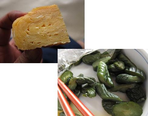 卵焼き&お漬物